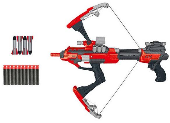 Мегабластер арбалет в наборе с 10 мягкими снарядами и 4 большими пулямиАвтоматы, пистолеты, бластеры<br>Мегабластер арбалет в наборе с 10 мягкими снарядами и 4 большими пулями<br>