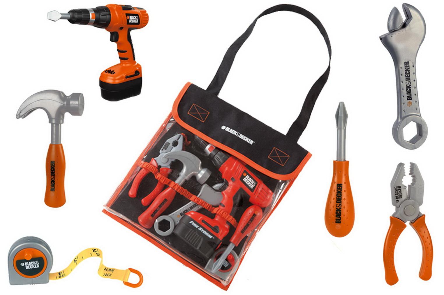 Детские инструменты в сумочкеДетские мастерские, инструменты<br>Прекрасная сумочка с детскими инструментами идеально подойдет начинающему папиному помощнику...<br>