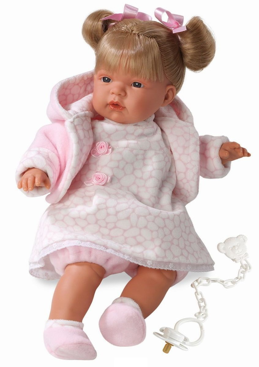 Кукла Люсия в розовой кофточке, 38 см.Испанские куклы Llorens Juan, S.L.<br>Кукла Люсия в розовой кофточке, 38 см.<br>