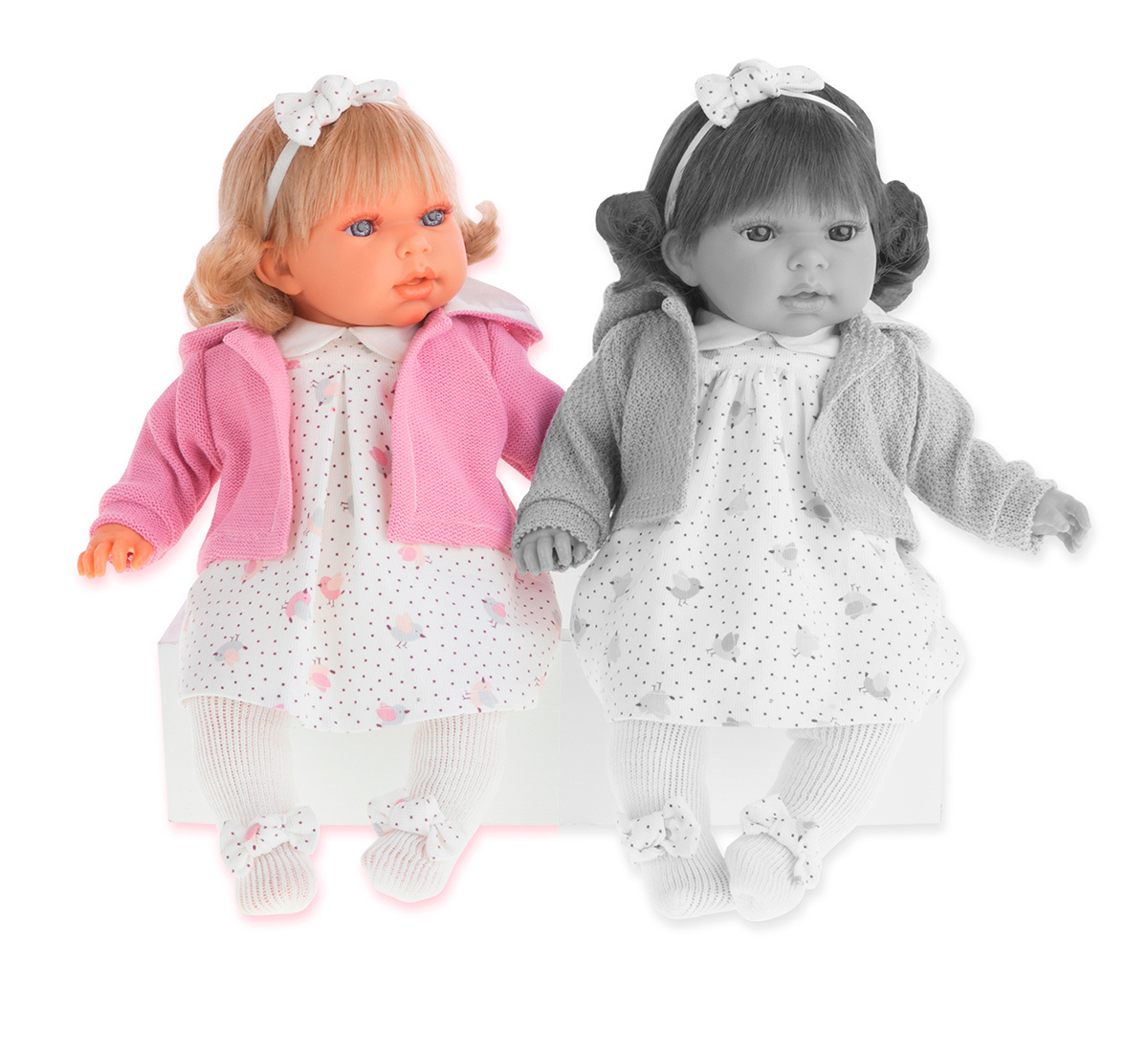 Купить Интерактивная кукла Лорена в розовом, озвученная, 37 см, Antonio Juan Munecas