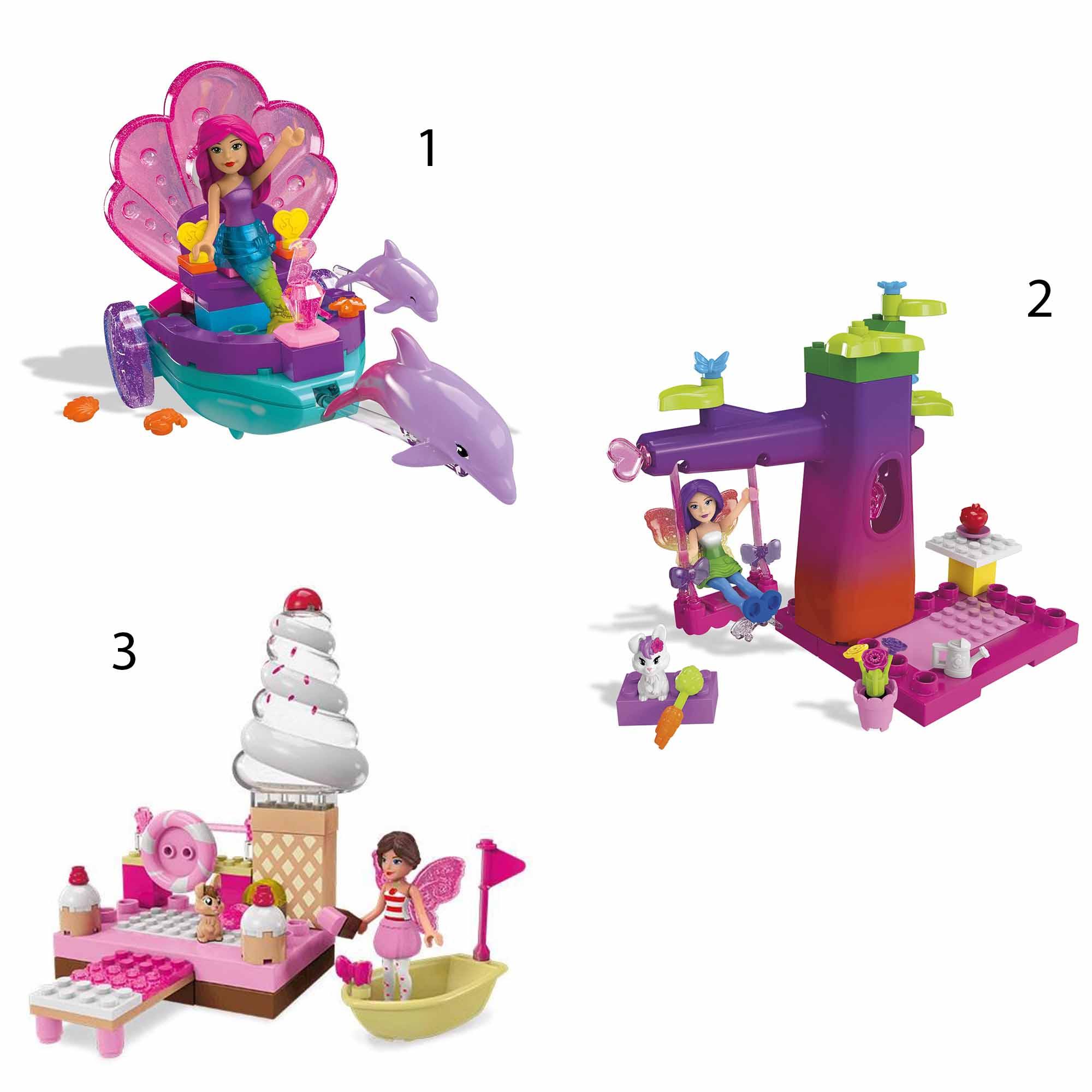 Конструктор Barbie – Сказочные игровые наборы, 40 деталейКонструкторы Mega Bloks<br>Конструктор Barbie – Сказочные игровые наборы, 40 деталей<br>