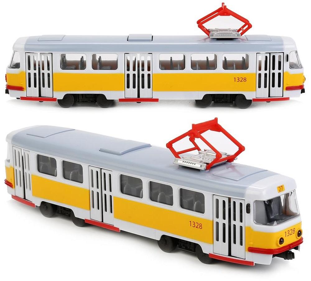 Купить Трамвай 30 см со светом и звуком, открываются двери, Технопарк