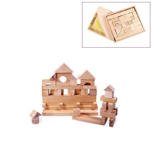 Купить Деревянный конструктор, 35 деталей, неокрашенный, Paremo