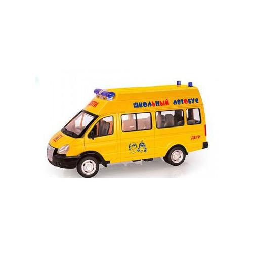 Инерционная модель - Газель - Школьный автобус со светом и звукомАвтобусы, трамваи<br>Инерционная модель - Газель - Школьный автобус со светом и звуком<br>