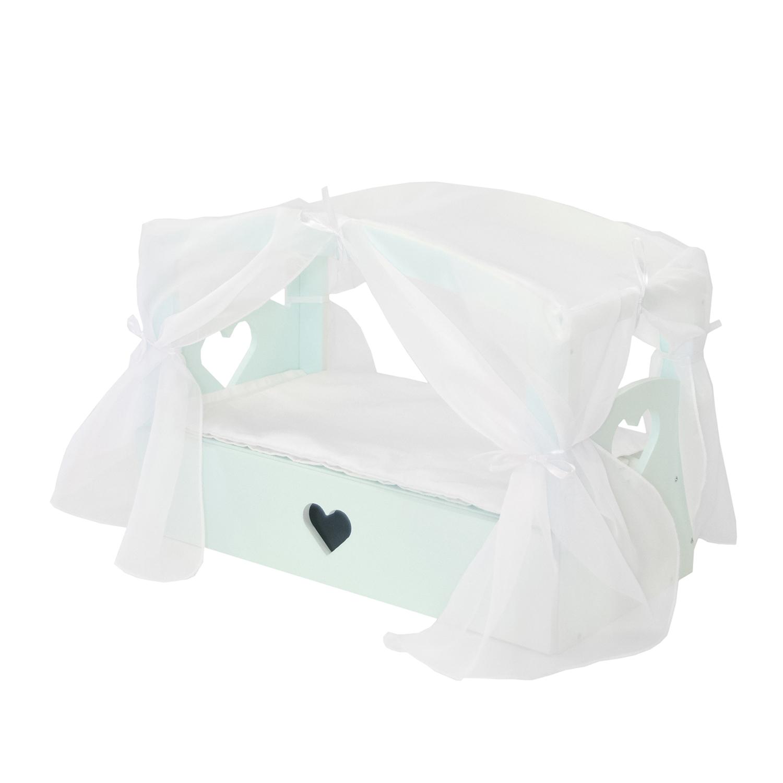 Купить Кроватка с бельевым ящиком серии Любимая кукла, цвет Аквамарин, Paremo