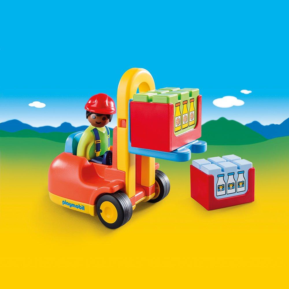Купить Игровой набор - 1.2.3 - Вилочный погрузчик, Playmobil