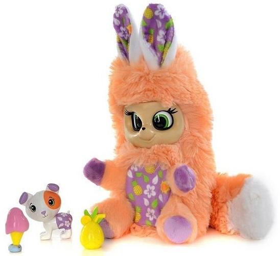 Мягкая игрушка из серии Bush baby world – Лола с питомцем и аксессуарами, 17 см, шевелит ушками, вращает глазками