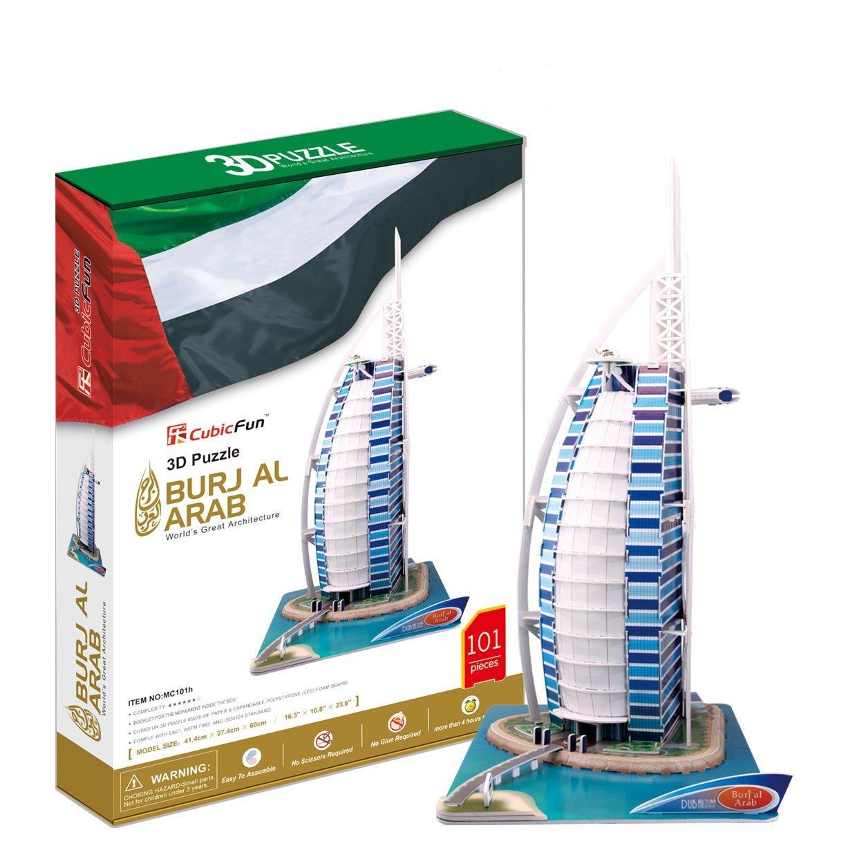 Отель Бурж эль АрабПазлы объёмные 3D<br>Отель Бурж эль Араб<br>