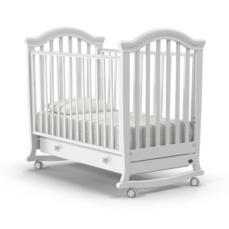 Купить Детская кровать Nuovita Perla dondolo, цвет - Bianco/Белый