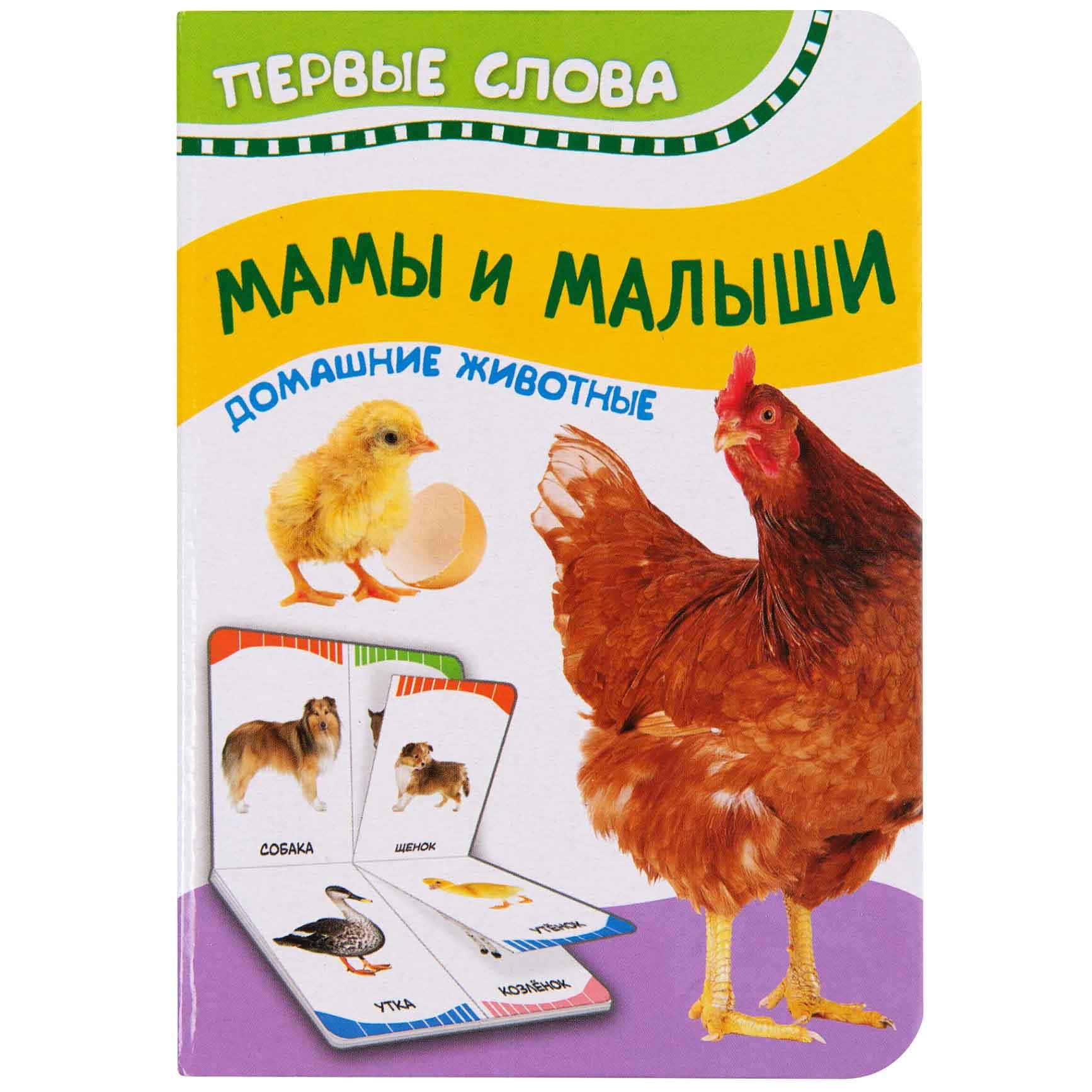Купить Книга из серии Первые слова - Мамы и малыши. Домашние животные, Росмэн
