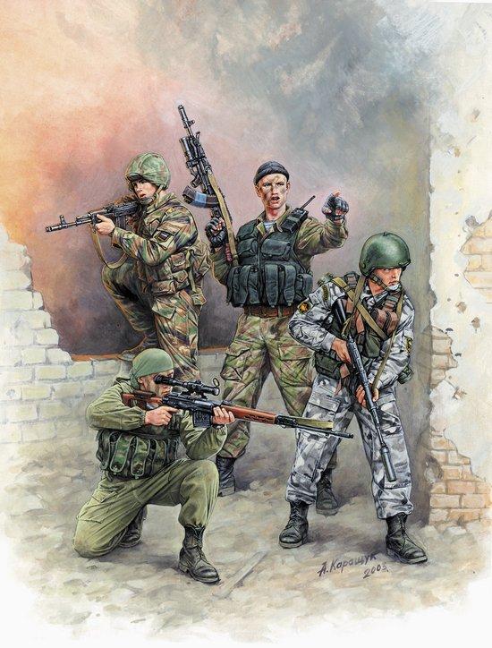 Модель для склеивания - Российский спецназ №1Фигурки<br>Модель для склеивания - Российский спецназ №1<br>
