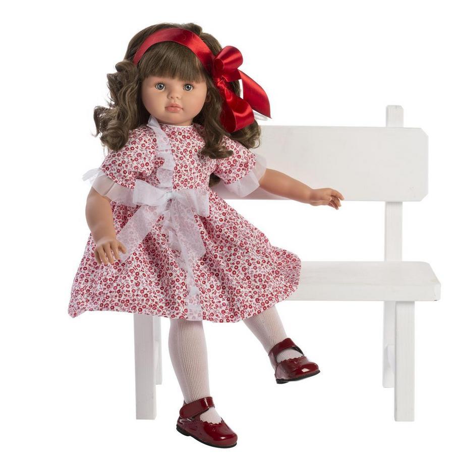 Кукла Пепа с красной атласной ленточкой, 57 см. фото