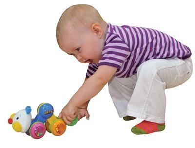 Развивающая игрушка Гусеничка: нажми и догони