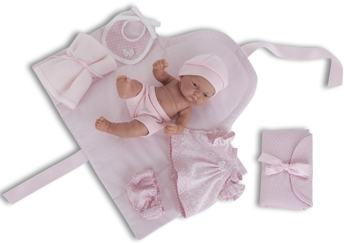 Кукла-младенец Карла с пеленальным комплектом, 26 см.Куклы Антонио Хуан (Antonio Juan Munecas)<br>Кукла-младенец Карла с пеленальным комплектом, 26 см.<br>