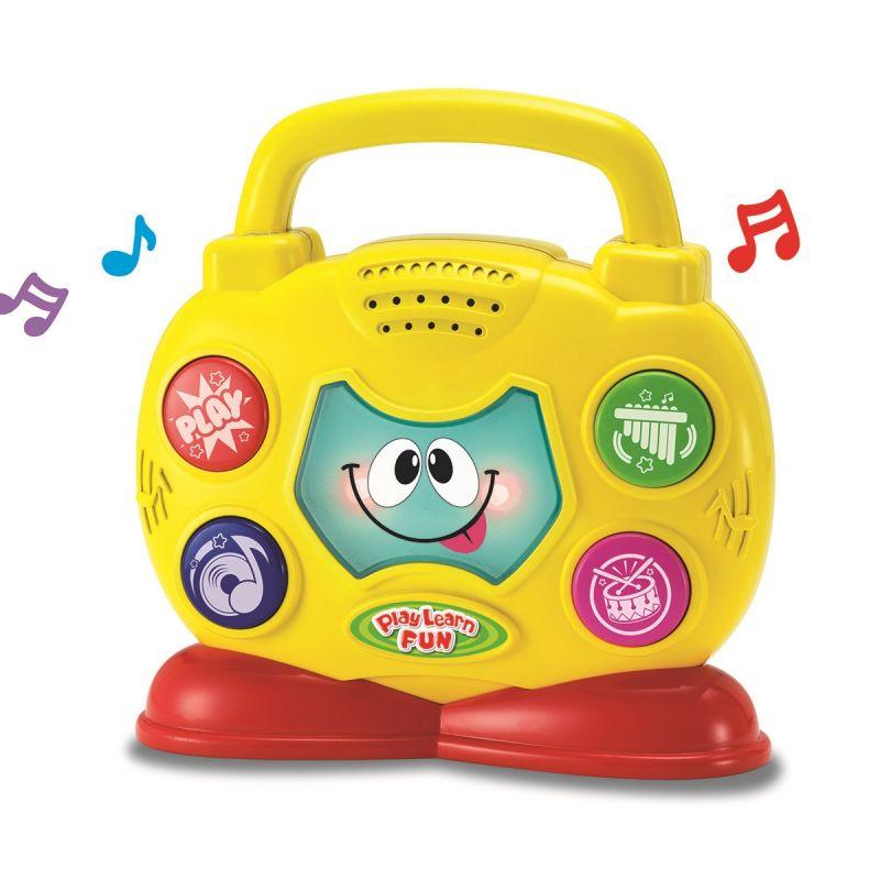 Музыкальный бумбокс, свет и звукИнтерактив для малышей<br>Музыкальный бумбокс, свет и звук<br>
