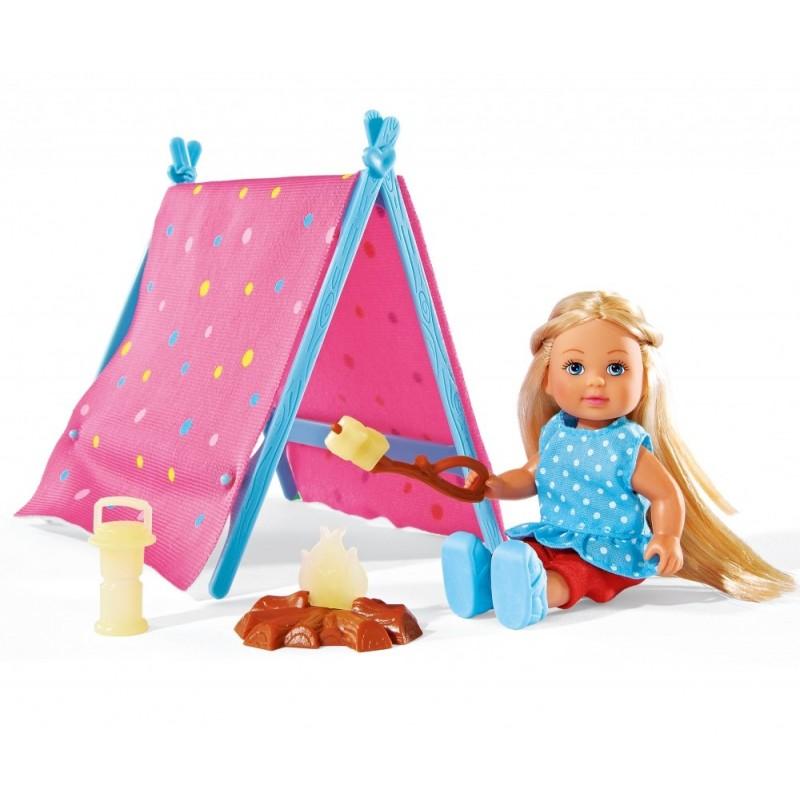 Кукла Еви в кемпинге, 12 см.Куклы Еви<br>Кукла Еви в кемпинге, 12 см.<br>