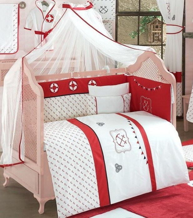 Комплект из 6 предметов - Red OceanДетское постельное белье<br>Комплект из 6 предметов - Red Ocean<br>