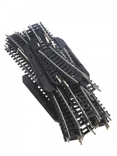 Mehano. Набор рельс №9 с радиальными участками и стрелкамиДетская железная дорога<br>Mehano. Набор рельс №9 с радиальными участками и стрелками<br>
