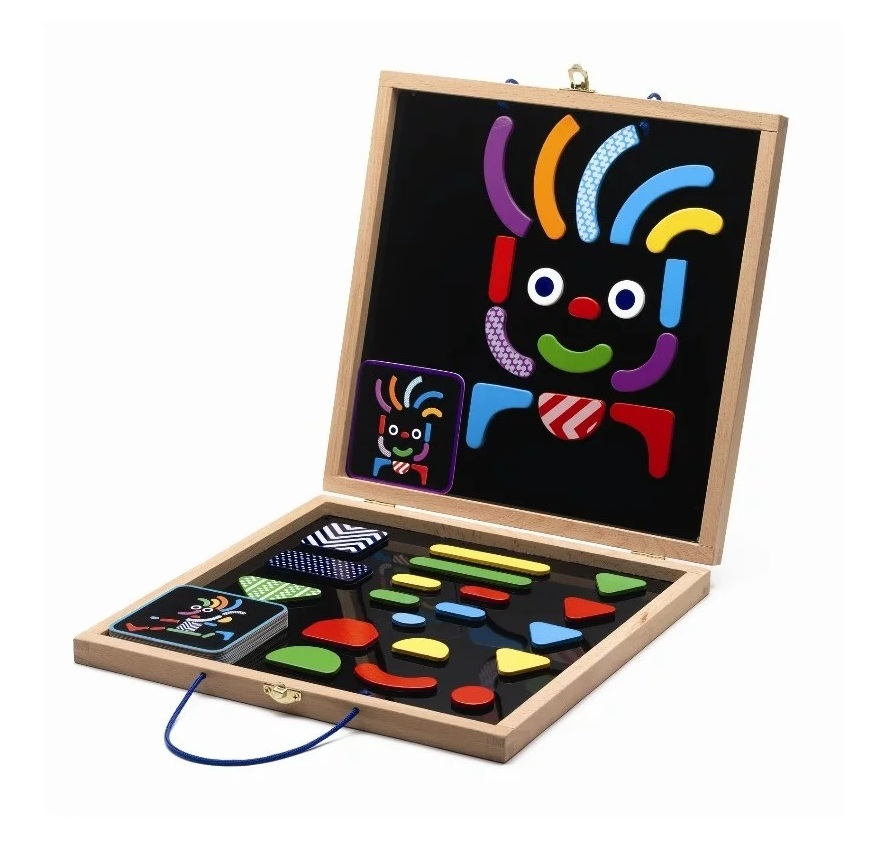картинка Детская развивающая магнитная игра - Гео человечки от магазина Bebikam.ru