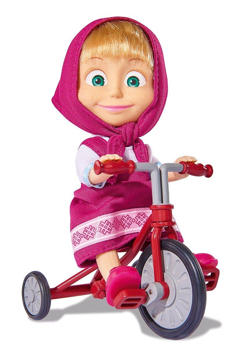 Кукла Маша на велосипеде, 12 смПупсы<br>Кукла Маша на велосипеде, 12 см<br>