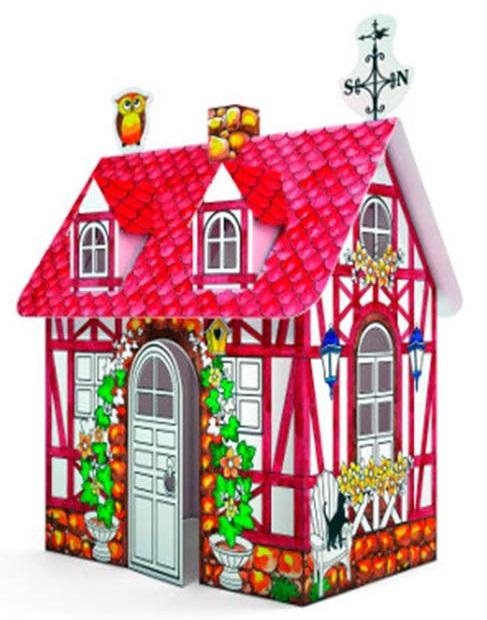 Домик игровой для раскрашивания - Загородный Дом/Country houseКукольные домики<br>Домик игровой для раскрашивания - Загородный Дом/Country house<br>