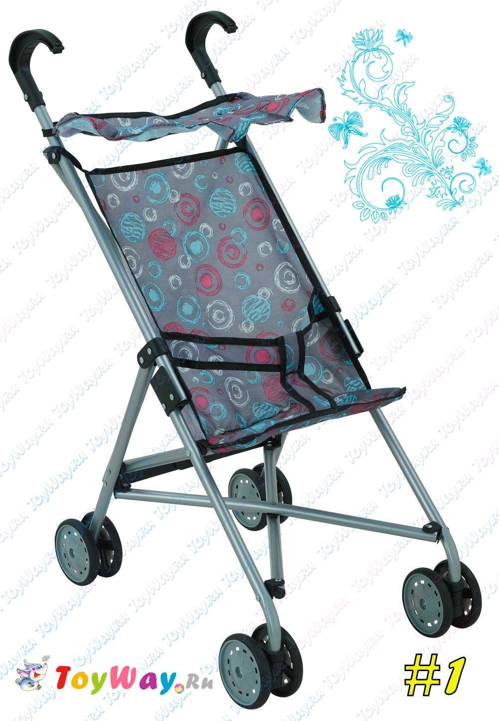 Купить Коляска - трость для кукол, с крышей и поворотными передними колесами Buggy Boom Mixy, Melobo