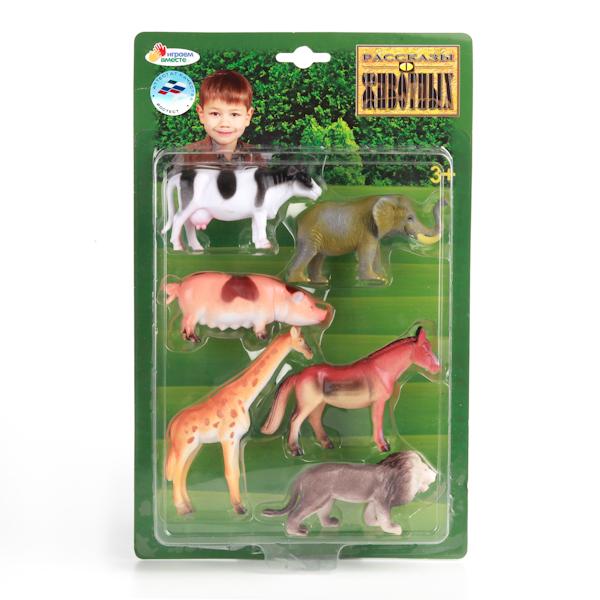 Набор из 6-и фигурок домашних и диких животных, 10 см.Дикая природа (Wildlife)<br>Набор из 6-и фигурок домашних и диких животных, 10 см.<br>