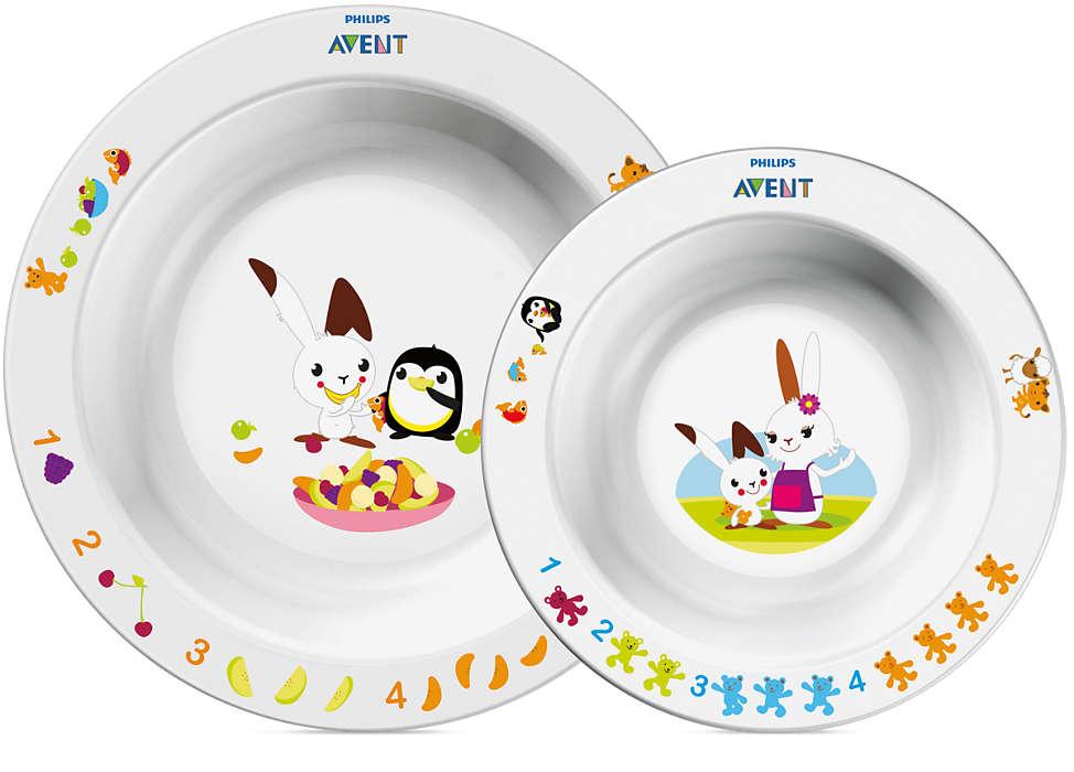 Набор из 2 детских глубоких тарелокТовары для кормления<br>Набор из 2 детских глубоких тарелок<br>