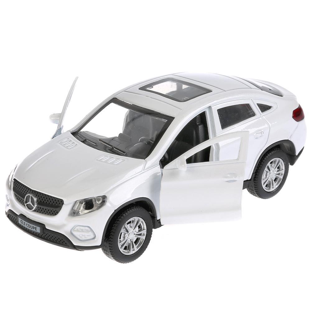 Купить Машина инерционная металлическая - Mercedes-Benz GLE Coupe, 12 см., открываются двери, цвет белый, Технопарк