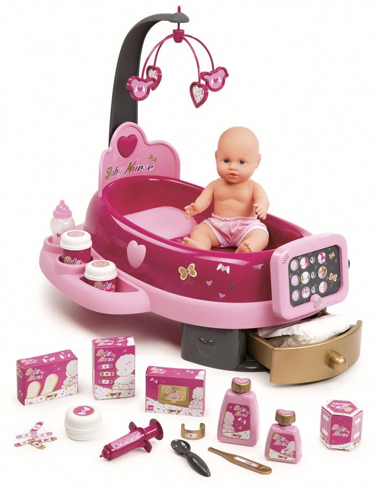 Набор по уходу за куклой, свет, звукНаборы для кормления и купания пупса<br>Набор по уходу за куклой, свет, звук<br>