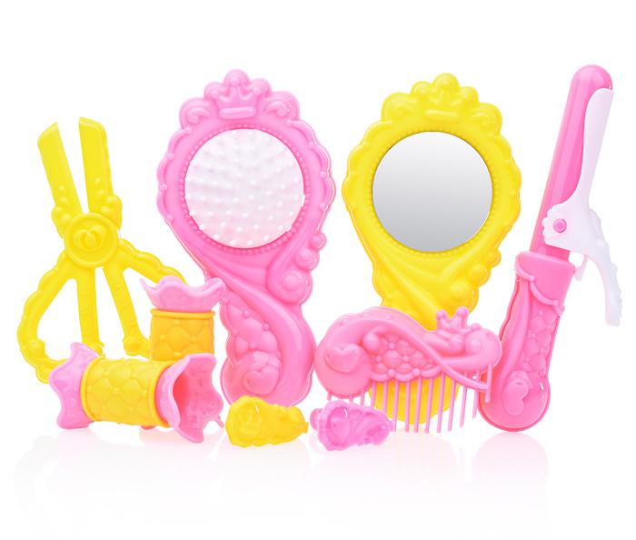 Игровой парикмахерский набор, цветной, 9 предметов в пакетеЮная модница, салон красоты<br>Игровой парикмахерский набор, цветной, 9 предметов в пакете<br>