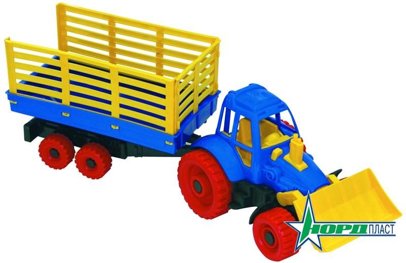 Трактор с грейдером и прицепомИгрушечные тракторы<br>Трактор с грейдером и прицепом<br>