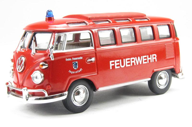 Коллекционный автомобиль -  Фольксваген микроавтобус – пожарная, 1/43 образца 1962 года, серия ПремиумVolkswagen<br>Коллекционный автомобиль -  Фольксваген микроавтобус – пожарная, 1/43 образца 1962 года, серия Премиум<br>