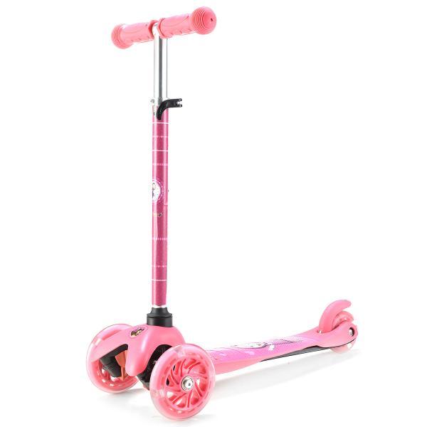 Трехколесный самокат – Маша и Медведь, светящиеся колеса 12 и 8 см, розовыйМаша и медведь игрушки<br>Трехколесный самокат – Маша и Медведь, светящиеся колеса 12 и 8 см, розовый<br>