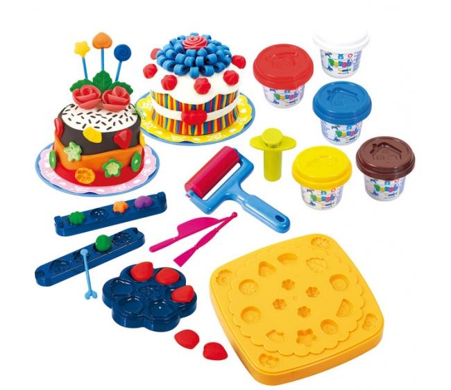 Набор с пластилином - Праздничный тортНаборы для лепки<br>Набор с пластилином - Праздничный торт<br>