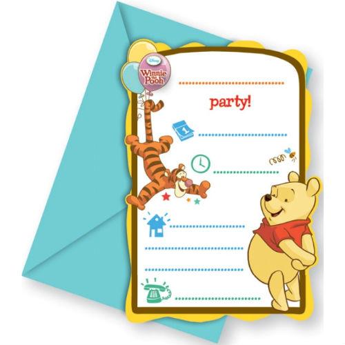 Приглашения в конвертах Винни и ХрюняВинни Пух<br>Приглашения в конвертах Винни и Хрюня<br>