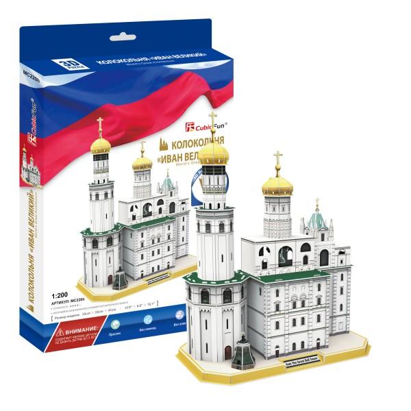 Купить Объемный 3D-пазл Колокольня Ивана Великого, Россия, Cubic Fun