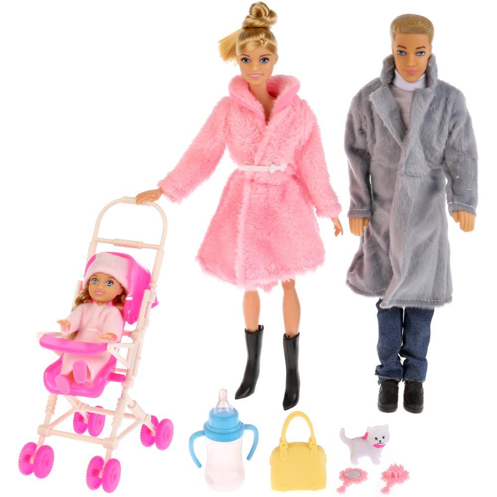Кукла София в зимней одежде 29 см., с семьей и аксессуарами фото