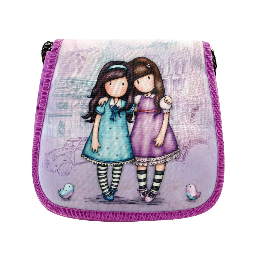 Маленькая сумка с клапаном Cityscape - Friends Walk Together из серии Gorjuss