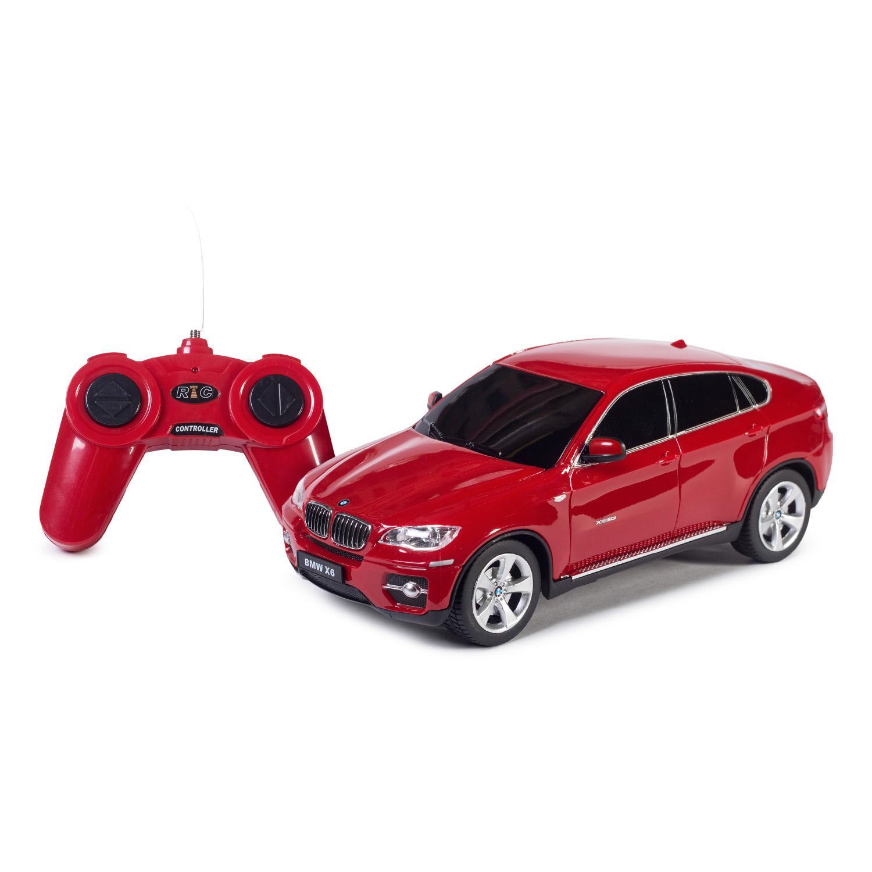 Машина на р/у - BMW X6, красный, 1:24, свет