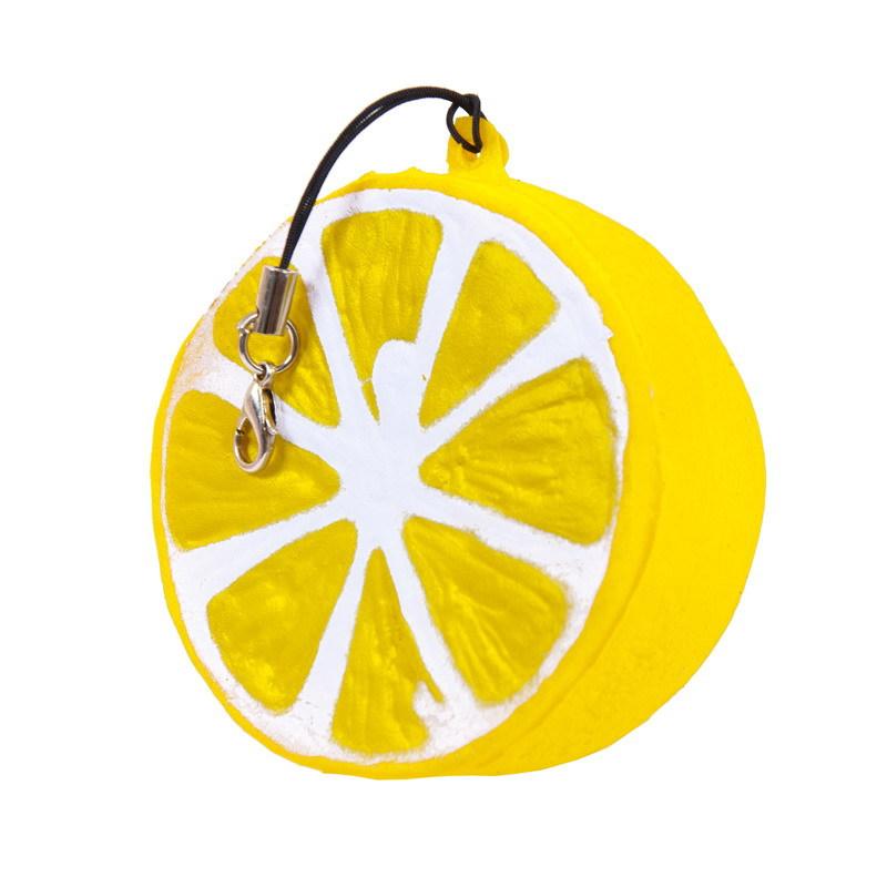 Мягкая игрушка антистресс – Долька лимона, 6 см