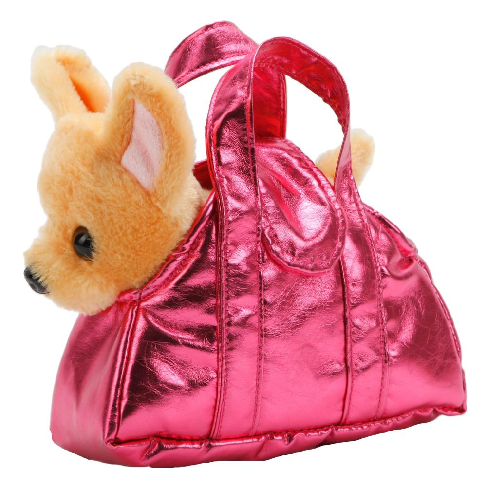 Купить Мягкая игрушка Собака Чихуахуа в сумочке, 18 см, Мой питомец