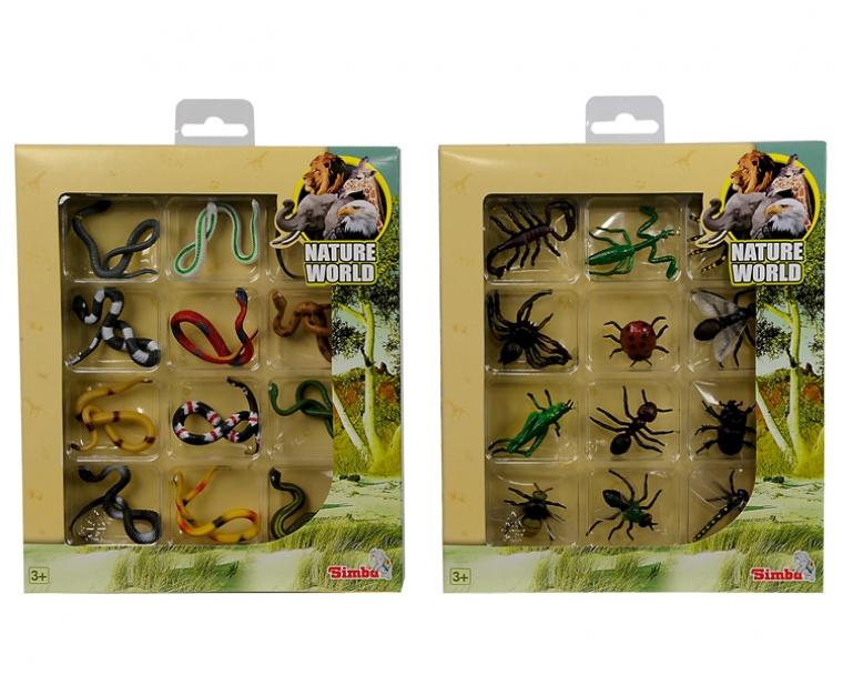 Набор Змеи и насекомые, 12 фигурокДикая природа (Wildlife)<br>Набор Змеи и насекомые, 12 фигурок<br>