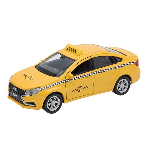 Модель машины Lada Vesta такси, 1:34-39LADA<br>Модель машины Lada Vesta такси, 1:34-39<br>