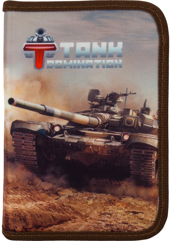 Пенал - Tank Domination, 1 отделение, 1 отворот, без наполненияПеналы<br>Пенал - Tank Domination, 1 отделение, 1 отворот, без наполнения<br>