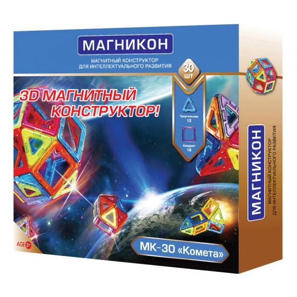 Конструктор магнитный – Комета, 30 элементов - MEGASALE, артикул: 149454