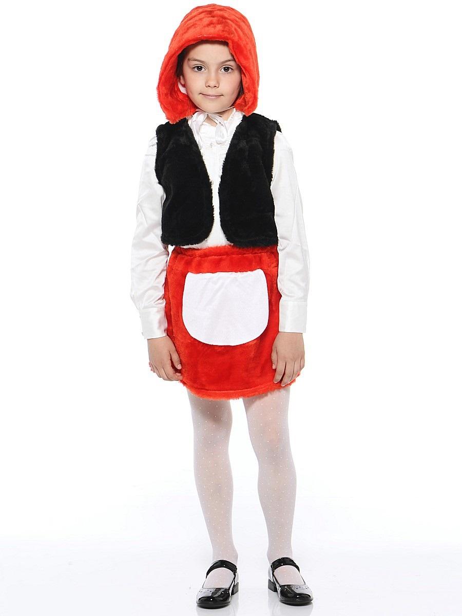 Костюм карнавальный детский – Красная шапочка, мех, размер 28Карнавальные костюмы<br>Костюм карнавальный детский – Красная шапочка, мех, размер 28<br>