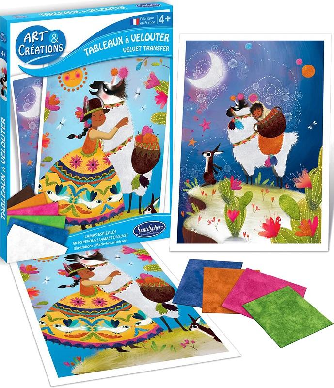 Купить Набор для детского творчества - Резвые ламы, с тканевыми деталями, SentoSpherE