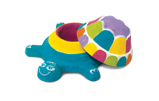 Набор Шар-Папье - Черепашка с краскамиПАПЬЕ-МАШЕ<br>Набор Шар-Папье - Черепашка с красками<br>