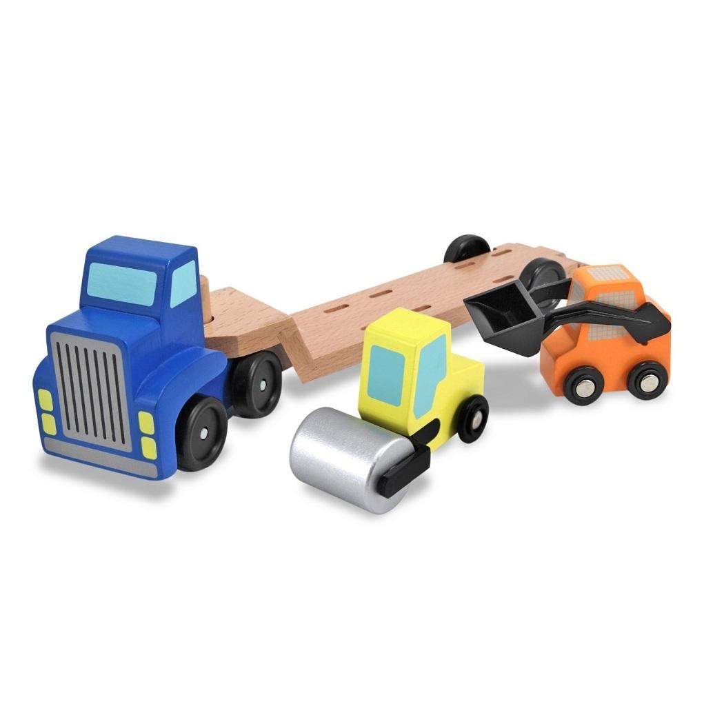 Машинка-погрузчик с дорожной техникой в комплектеПаровозики и машинки<br>Машинка-погрузчик с дорожной техникой в комплекте<br>